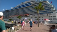 The beautiful Royal Princess, in port in St Thomas.