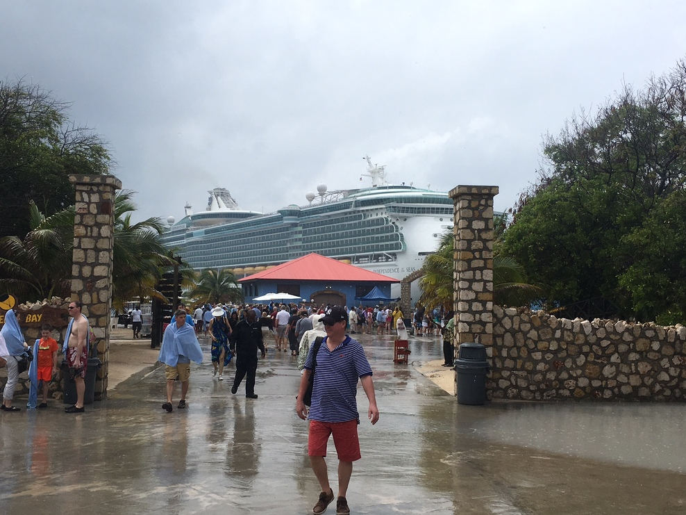 The rainy weather in Labadee.