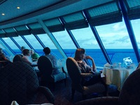 The Horizon Lounge on Nautica, above the Ships Bridge, offering fantastic views ahead and around