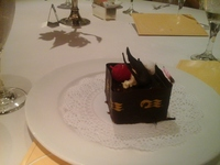 Special Birthday cake in Rigoletto Restaurant.  SO decadent!  yum.