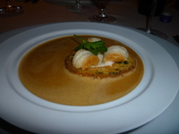 Lobster Bisque at Steakhouse