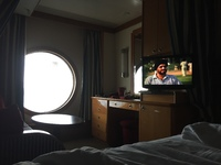 This is sadly the best photo I had of our cabin.  The view of the secret porthole