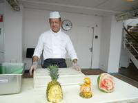 They had a fruit cutting demonstration on one of the sea days.