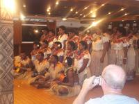Meke concert by Yasawa lsand villagers for passengers on-board the Fiji Princess