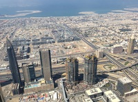 From the top of the Burj Kalifa in Dubai.