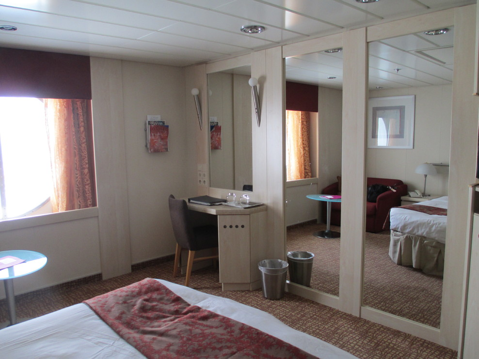 Roomy and spacious.  Even the shower was larger than usual.  Very quiet area