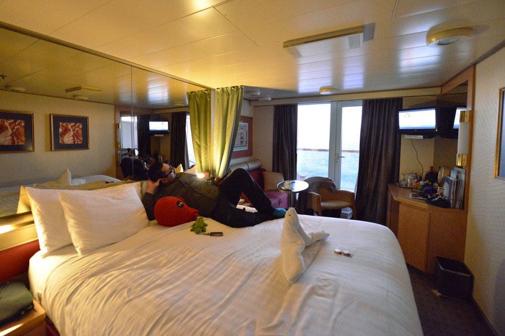 Verandah Cabin On Deck 7. We Found It Spacious And The Balcony Was Great