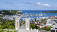 Overlooking the port of Noumea