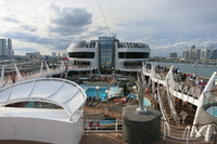 View of main pool deck 14 and Miami skyline