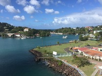 Port of St. Lucia as seen from our balcony.