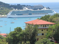 Jewel of the Seas docked in St. Thomas