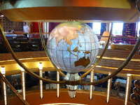 Waterford crystal globe @ Ocean's Bar
