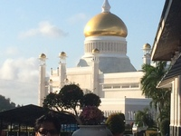 The all gold dome of the palace of the Sultan of Brunei.