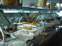 Breakfast selections in the Windjammer buffet