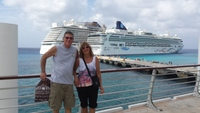 Ready to board in Cozumel after enjoying strolling the streets.