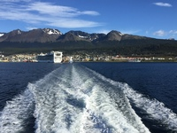 Leaving Ushuai for tour of Beagle Channel.