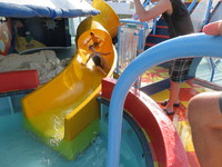 The kid's loved the water slides.