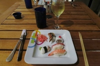 Fresh made sushi in Oceanview cafe