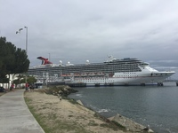 The Carnival Miracle in port at Long Beach