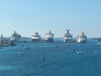 This is a pic of the Grandeur of the seas ( far right ). Lined up in Nassau