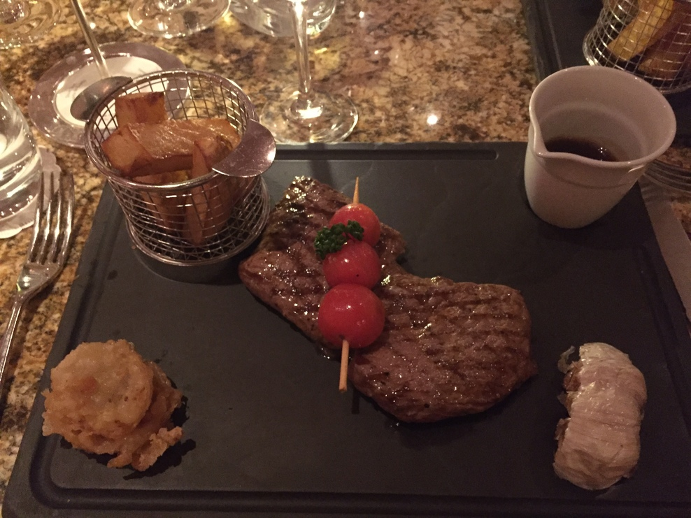 £8.00 steak at the glass house.