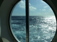 View from our stateroom.