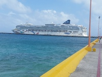 Norwegian Dawn at Costa Maya