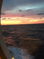 Sunset from our porthole.