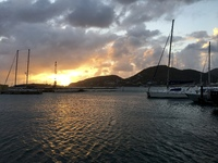 Sunset in St. Maarten