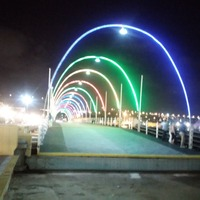 Night view of Curacao bridge!