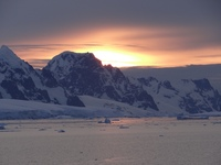 Sunset in Antarctica - at half midnight!!