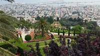 A view from above the Baha'i gardens in Haifa