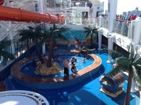 Main pool in the center of the ship
