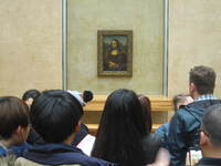 "Our visit to the Louvre and the obligatory viewing of Da Vinci's ""M"