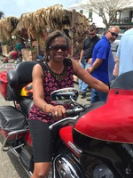 In St. George on one of the bikes that rode on the cruise ship