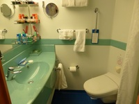 Sink and toilet area in cabin 6120