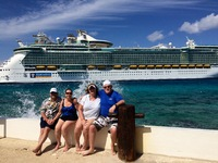 At the El Cid - in Cozumel, on an All Inclusive Day Pass - right next to the ship