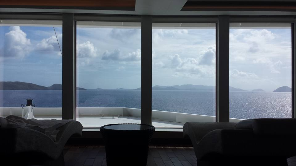 Departing Tortola: a view from the spa!