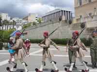 Athens: Guard changing ceremony.