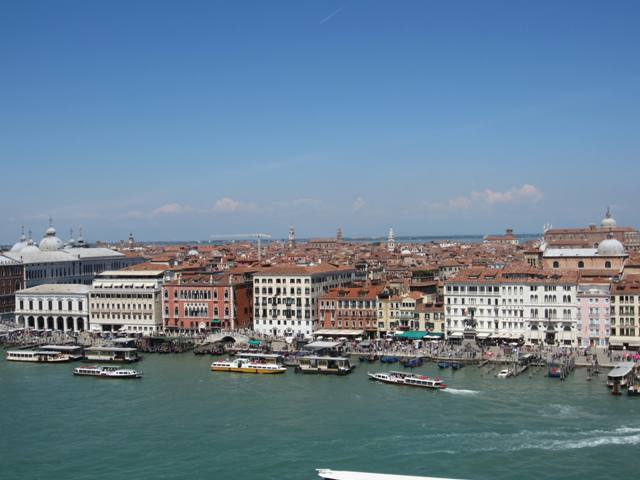 View of Venice from Cruise ship.