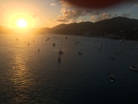 Beautiful sunset from the top deck leaving Tortola