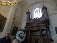 This 18th century pipe organ gave us a concer high on the hilltop cathedral . Played by a young organist it was fascinating