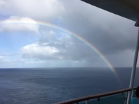 Rainbow off the back deck