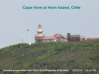 The lighthouse on the Island of Horn, Cape Horn.