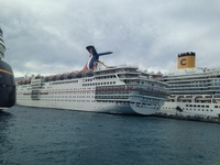 The Carnival Fascination in the Port of Nassau