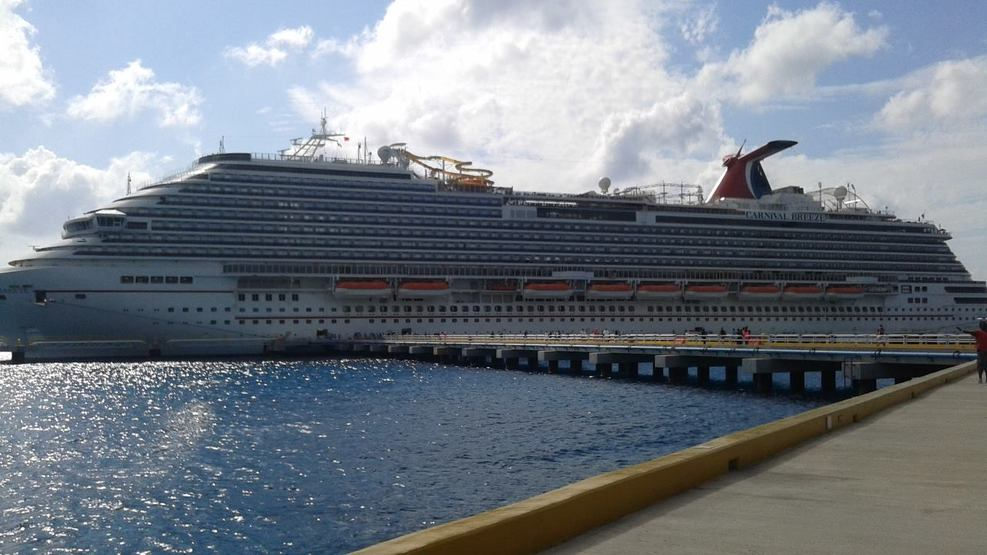 Ship docked in Cozumel