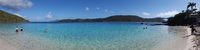 Coki Beach at St Thomas prior to the crowds.  Great place to snorkel! Decen