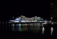 This is of the Celebrity Melleninium docked in Darwin Australia