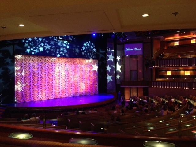 view of Celebrity Theater stage