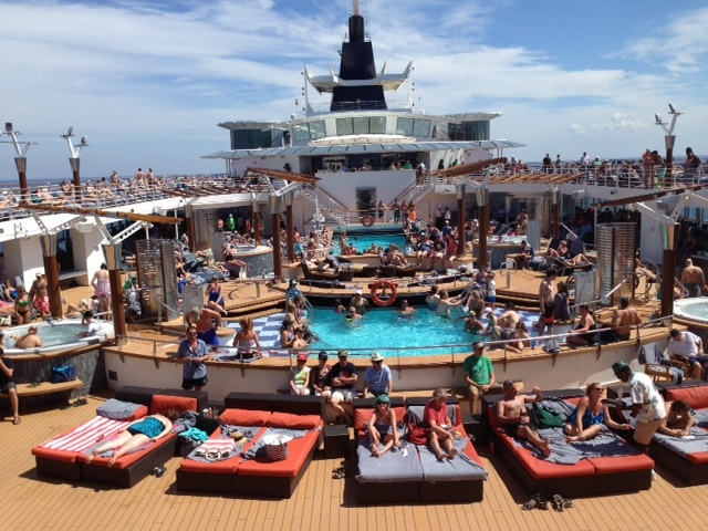 view of pools from the aft